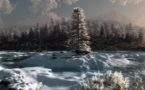 Wallpaper winter, forest, snow, landscape