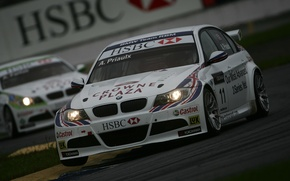 Picture BMW, Andy Priaulx, racing, WTCC, the world championship in the class touring car racing., Andy …