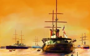 Wallpaper picture, ships, boat, seascape