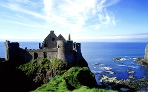Picture Nature, Sea, Grass, Castle