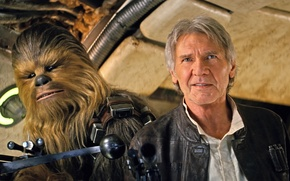 Picture background, Star Wars, Star wars, Han Solo, Han Solo, Chewbacca, Chewbacca, The Force Awakens, Episode ...