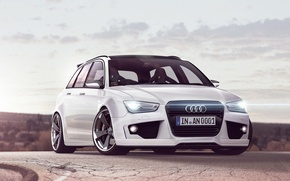Picture Audi, white, drives