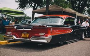Picture retro, car, classic, rear view, Edsel Corsair, Sl Edsel