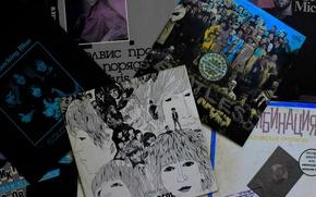 Picture retro, music, record, the Beatles