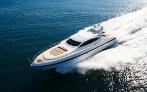 Picture sea, foam, yacht