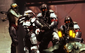 Picture fiction, the game, soldiers, helmet, Killzone, Resistance, aliens, Hybrid, Killzone: Shadow Fall, chimera