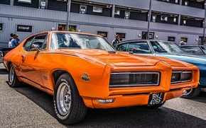 Picture muscle car, Pontiac, GTO, 1968