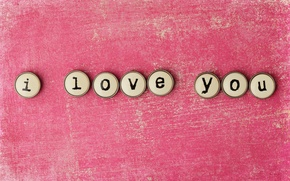 Picture love, letters, background, pink, the inscription, words, I love you