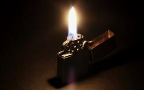 Picture Zippo, light, fire, darkness, lighter
