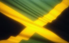 Wallpaper flag, Jamaica, glow