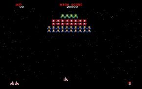 Picture Dendy, 8-bit, NES, Galaga, Nintendo, Galaxian