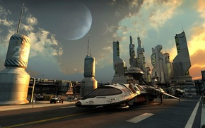 Picture spaceship, early morning, station 23
