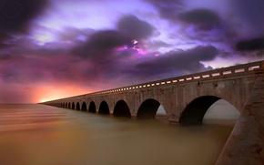 Wallpaper bridge, Lightning, Infinity, Viaduct
