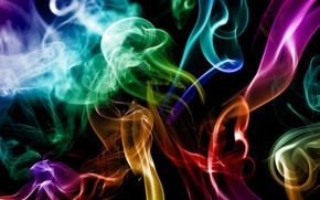 Picture color, abstraction, creative, smoke, smoke, colours