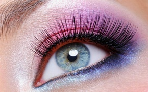 Picture purple, blue, face, pink, makeup, eyebrow, blue eyes, forever