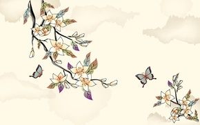 Picture trees, figure, Butterfly