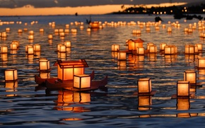 Wallpaper lanterns, float, Hawaii