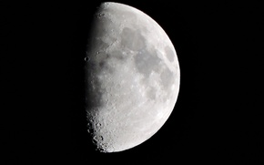 Picture Moon, white, black, sky, planet
