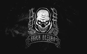 Picture Music, Logo, Music, Black, Russian Hip-Hop, Underground, the Chemodan Clan, Evil Clown