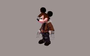 Wallpaper minimalism, cigar, Wolverine, x-men, Wolverine, disney, Mickey Mouse, Mickey Mouse