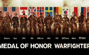 Picture soldiers, flags, MEDAL OF HONOR WARFIGHTER