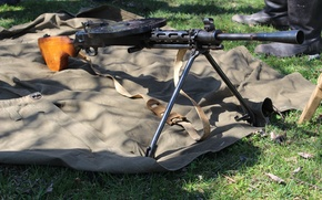 Picture machine gun, manual, infantry, DP-27, Degtyareva