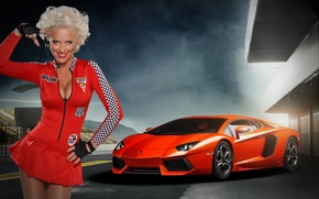 Picture chest, star, playboy, blonde, keys, TV presenter, skirt, blond, drive, voitur, Iryna Olhovska, Irina Olkhovskaya