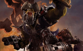 Picture Warhammer 40000, Orc, Dawn of War 2, Retribution