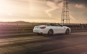 Picture BMW, White, Forged, Convertible, Wheels, Rear, Strasse