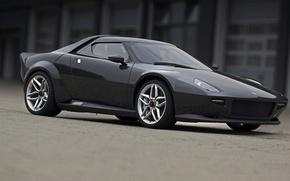 Picture machine, black, sports, car, Lancia, Stratos
