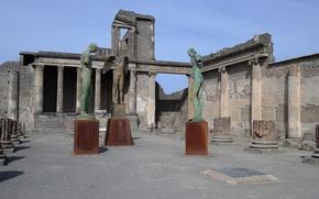 Picture Italy, ruins, Pompeii, excavations