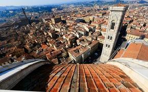 Picture the sky, home, Italy, panorama, Florence, street, quarter, Giotto's bell tower, the view from the ...