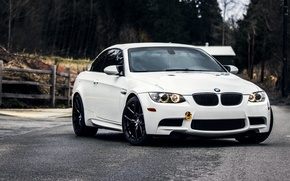 Picture Road, BMW, White, BMW, Lights, Before, White, E92