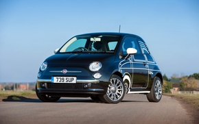 Picture photo, Blue, Tuning, Car, 500, Fiat, Edition, 2015, Ron Arad
