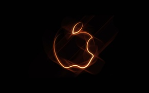 Picture computer, light, abstraction, Apple, smoke, gas, gadget