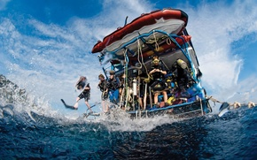 Picture water, boat, diving, snorkeling