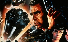 Picture Harrison Ford, Harrison Ford, Blade Runner, Blade runner, Sean Young, Sean Young