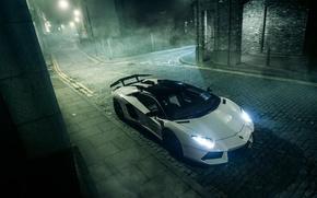 Picture Lamborghini, night, Aventador, mist, GFWilliams Photographer
