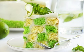 Picture the sweetness, lime, mint, cakes, cake