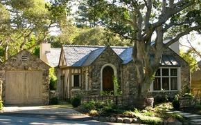 Picture the city, house, garden, Biddlestone Cottage