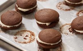 Picture chocolate, cookies, cream, sweet, macaron