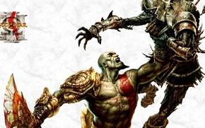 Picture hate, sword, Hero, soldier, monster, Kratos, God of War, tatoo, Spartan, death, God, armour, warrior, …