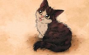 Picture cat, mood, art, nezu panda