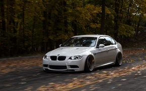Picture bmw, BMW, turbo, white, wheels, tuning, power, front, face, germany, e92