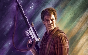 Picture the series, Nathan Fillion, firefly, captain reynolds, Malcolm Reynolds