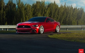 Picture Mustang, Ford, Vossen, Graphite, VFS6