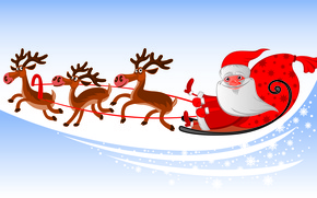 Picture holiday, new year, vector, art, the mood, santa claus