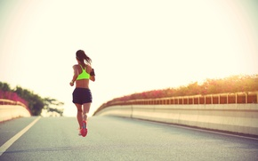 Wallpaper fitness, running, sportswear, jogging