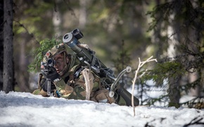 Picture weapons, army, soldiers, Norwegian Army