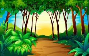 Wallpaper trees, nature, the bushes
